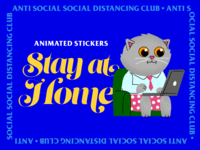 Stay at Home Animated Stickers animatedgif illustration giphy animated stickers ios