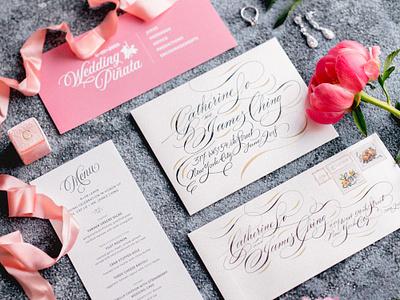 Designing my Wedding Invitations & Style style guide illustration website wedding invitation print design graphic design