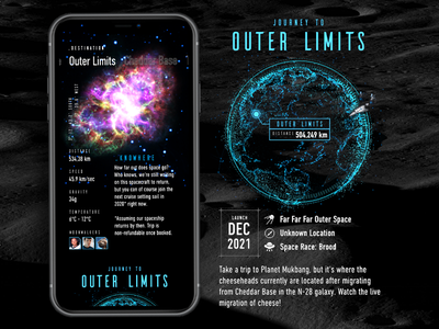Adobe XD Live: Outer Space Destinations space interface interaction app ux design iphone user interface ios ui