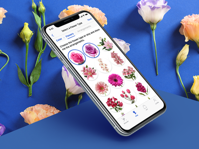 Adobe XD Live : Pick a Flower flowers ecommerce ux app design iphone user interface ios ui