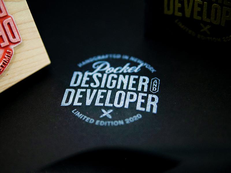 Pocket Designer & Developer 2020 logo design development logo badge stamp toy design branding packaging dice
