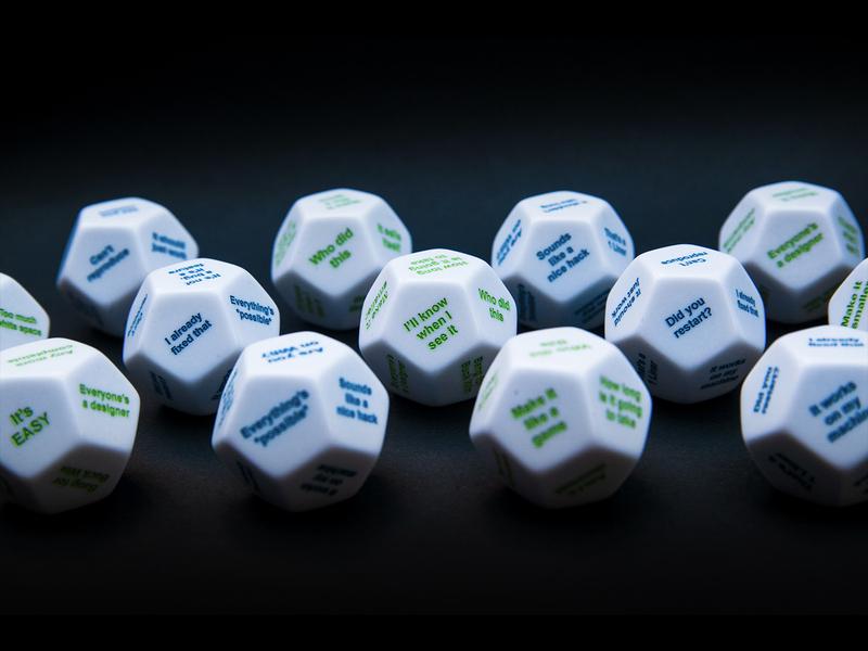 Pocket Designer & Developer 2020 toys engraved developer designer toy dice