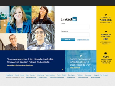 Rethinking Linkedin.com linkedin redesign rethinking user interface ui ux visual design web design