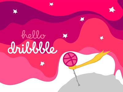 Hello Dribbble! prince little illustration dribbble hello