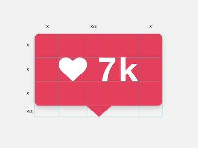 Proportions / Balance instagram heart icon proportions balance