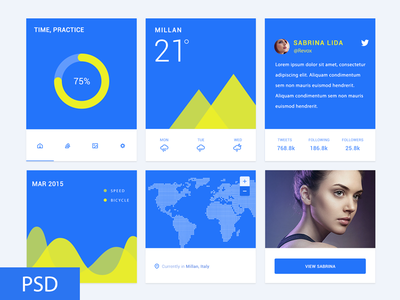 Freebie PSD: Material Design