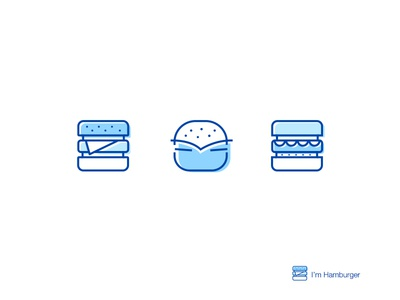 Hi,I'm Hamburger food hamburger icon illustartion