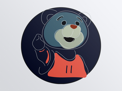 Stick Figure - FOR YAO/Bear Of Houston Rockets  bear animal illustration mascot