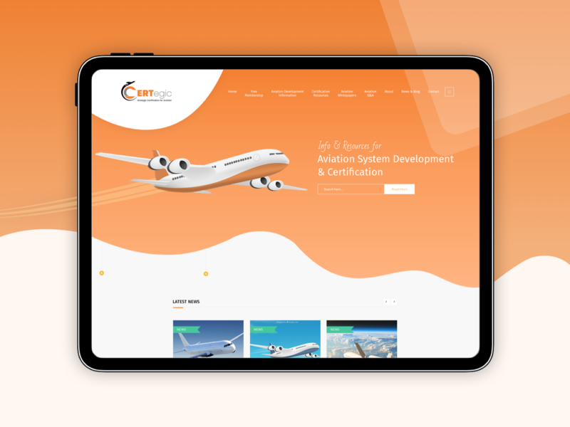 A Mobile Responsive Website For Aviation Business wordpress development wordpress design responsive website responsive design mobile responsive website