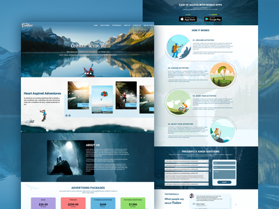 Version #2 - Landing Page website mobile app design agency mobileappdesign creative mobile app uiuxdesign landing page ui ui landing page