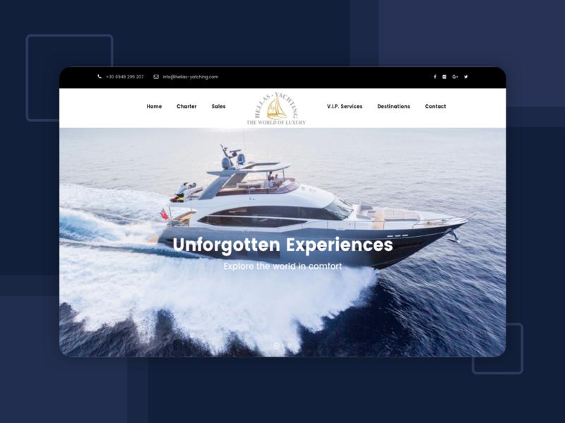 Website Revamp For Luxury Yacht Business wordpress development wordpress design responsive website design website redesign