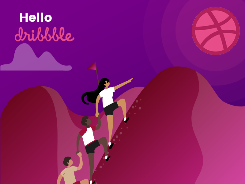 Hello Dribble webdesign illustration web branding typography mobileappdesign uiuxdesign