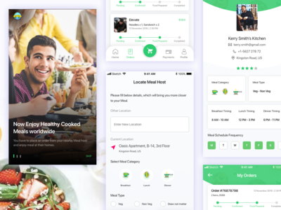 THCM Food Application home cooked food app application for food food app design typography uiuxdesign ux mobile app design mobile app design agency creative mobile app ux-design ui design mobileappdesign branding