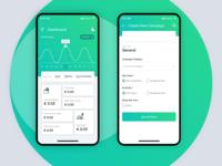 Mobile App Dashboard Design