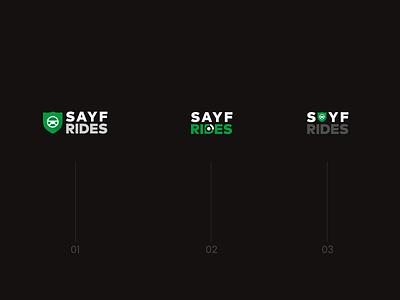 SayfRIdes Logo safe rides ride logo design cars logo car ride logo dribble logo idea cool logo design logo ideas branding design minimalist logo vector logo illustration ui mobile app design agency branding uiuxdesign