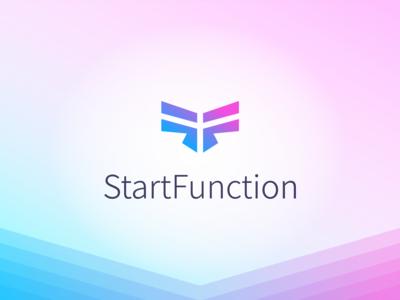 Logo for StartFunction agency typography branding logo design web