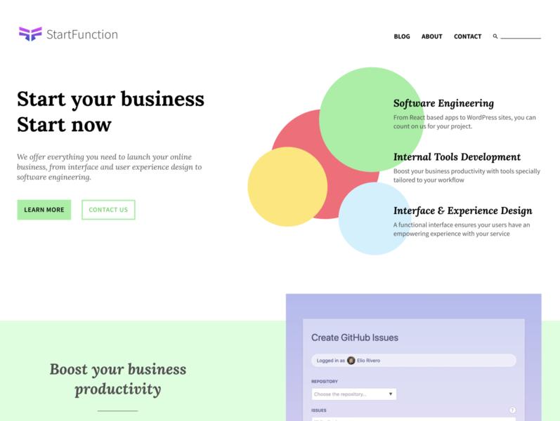 StartFunction website figmadesign agency website vector typography web