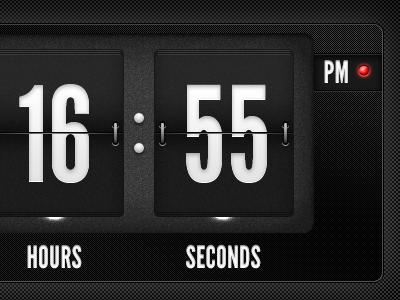 Flip Clock ui typography design clock league gothic