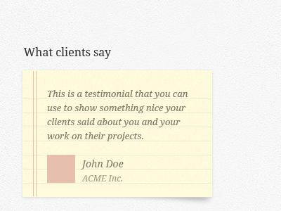 Testimonial web design testimonial droid serif themesrobot