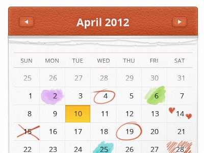 Image Preview calendar design icon ui open sans hand drawn