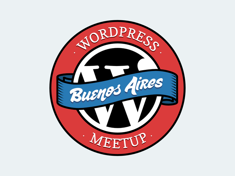 WordPress meetup logo for Buenos Aires chapter sugar pie display font sudtipos meetup wordpress vector logo design