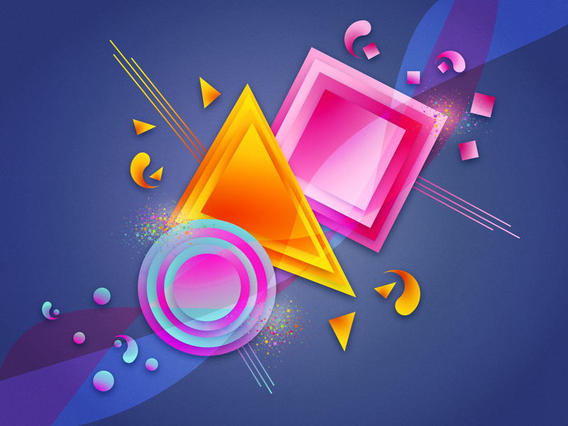 The color of the shape geometry shapes illustration vector