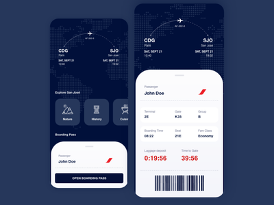 Boarding Pass dailyuichallenge boarding ticket tickets airplane travel app pass boarding boarding pass travel daily ui 24 dailyui challenge daily ui day 24 dailyui024