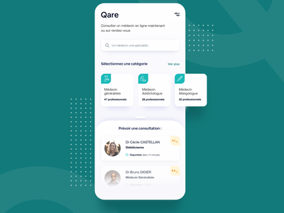 Qare user interface user experience uxdesign application dailyuichallenge daily ui medecine qare medical app care medical