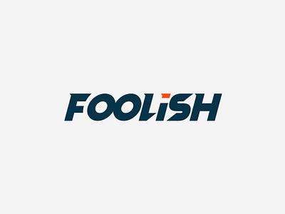 FOOLISH Logo minimal illustrator vector illustration logo design logo design flat icon branding