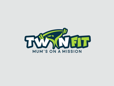 Twin Fit Logo clean nutrition company logo minimal illustrator vector illustration design logo design flat logo icon branding