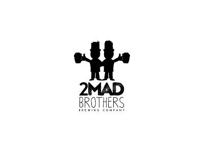 2mad Brothers Brewing Company Logo logo design logo icon flat branding