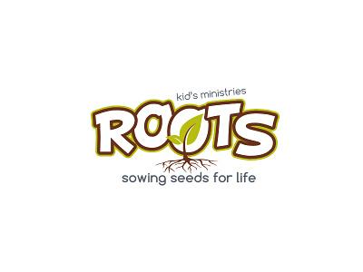 Roots Kid S Ministries Logo vector design logo design logo flat icon branding