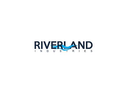 Riverland Logo design logo design logo icon flat branding
