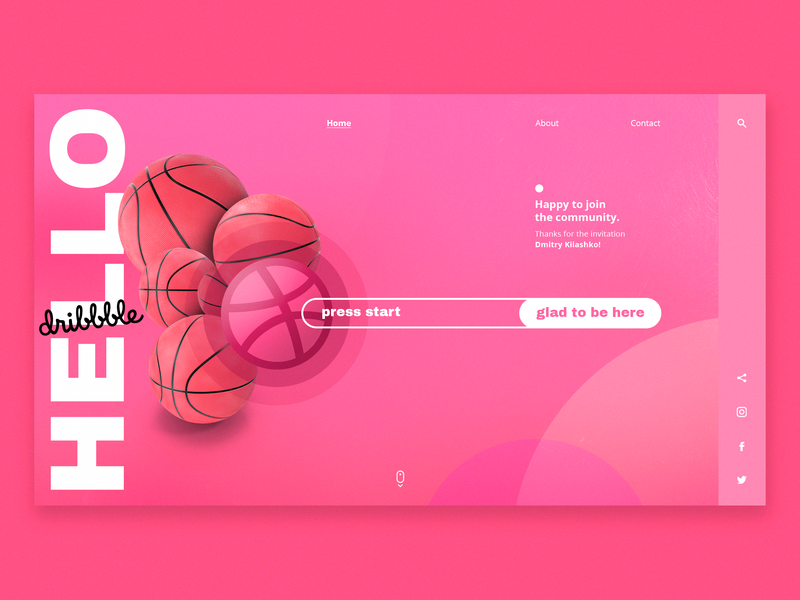 Hello Dribbblers! web design ui ux webdesign digital interface user interface ui landingpage hello dribbble first dribbble debutshot debut