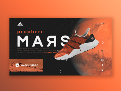 Concept • Home Page • Adidas Mars