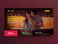 Les Gourmand Landing Page
