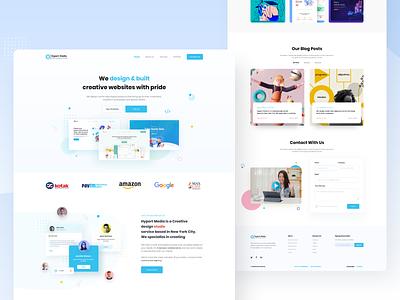 SaaS - Landing Page popup illustration web application agency software company website web saas landing page app design clean uiux