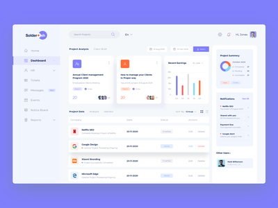CRM Dashboard creative web application management adobexd creative design customer management software design web app uiux clean crm dashboard