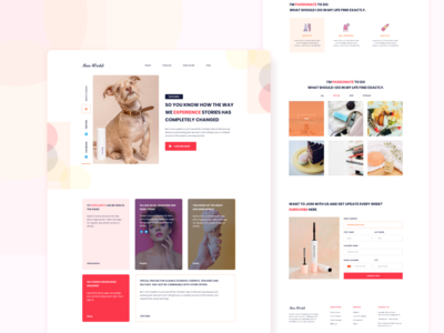 Cosmetic Promotion Landing page