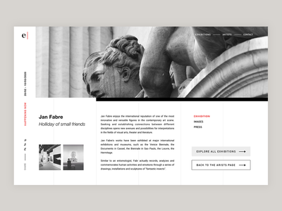 Eugster Gallery Website - Exhibition overview