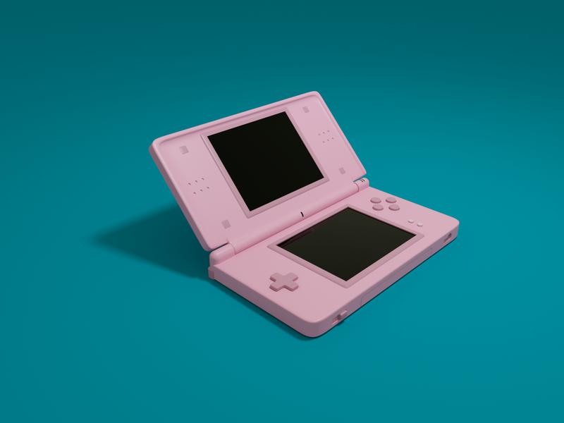 Nintendo DS Lite 3dillustration octanerender c4d cinema4d render gaming console nostalgia videogames nintendo