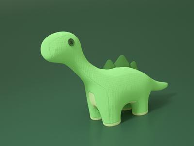 dino plushie toy plushie c4d cinema4d octanerender green render dinosaur dino