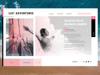 Lux Adventures adventure luxe photoshop ux ui design uidesign website sketch 3 illustrator