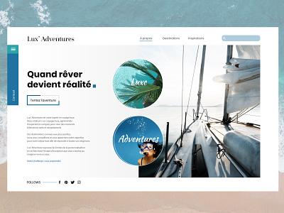 Agence De Voyages adventures luxe website uiux design uidesign sketch 3 photoshop illustraor