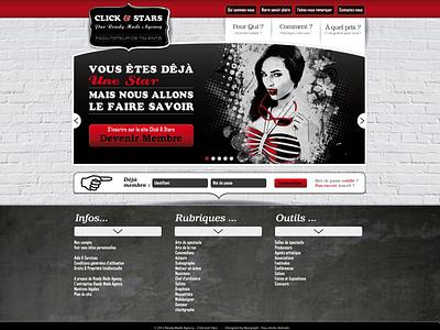 Click & Stars studio graphique freelance design graphic  design stars artist art graphism uiux design uidesign website photoshop illustration illustraor