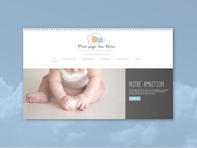 Mon Pays des Rêves css 3 html 5 php webdevelopment uiux design uidesign visual  identity identity logo wordpress design photoshop illustraor enfants parents association