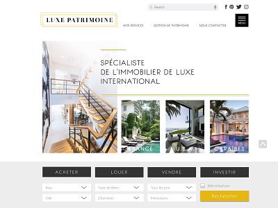 Luxe Patrimoine website artist design ui luxe uidesign uiux design illustraor photoshop