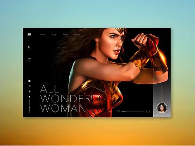 Wonder Woman ui art design artist website sketch 3 uiux design uidesign illustraor photoshop