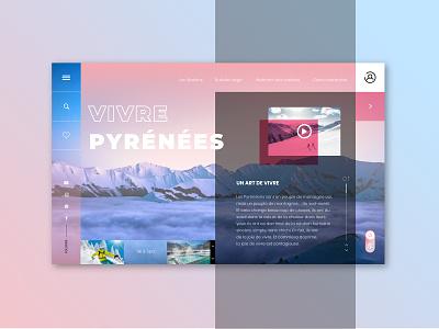 Pyrénées mountain artist website sketch 3 uiux design uidesign illustraor photoshop