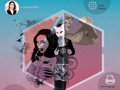 Brand identity luxe branding illustration art design artist website uiux design uidesign illustraor photoshop